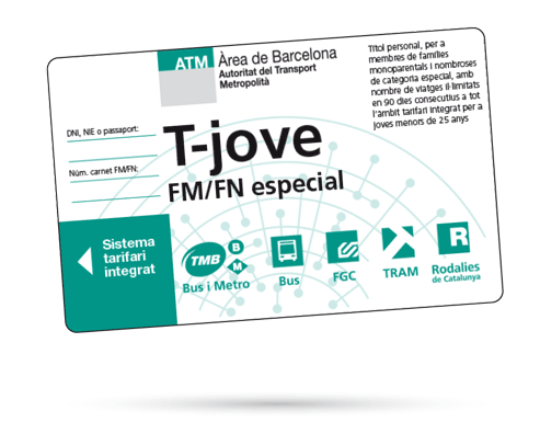Tarjeta T-Jove FM/FN ESP